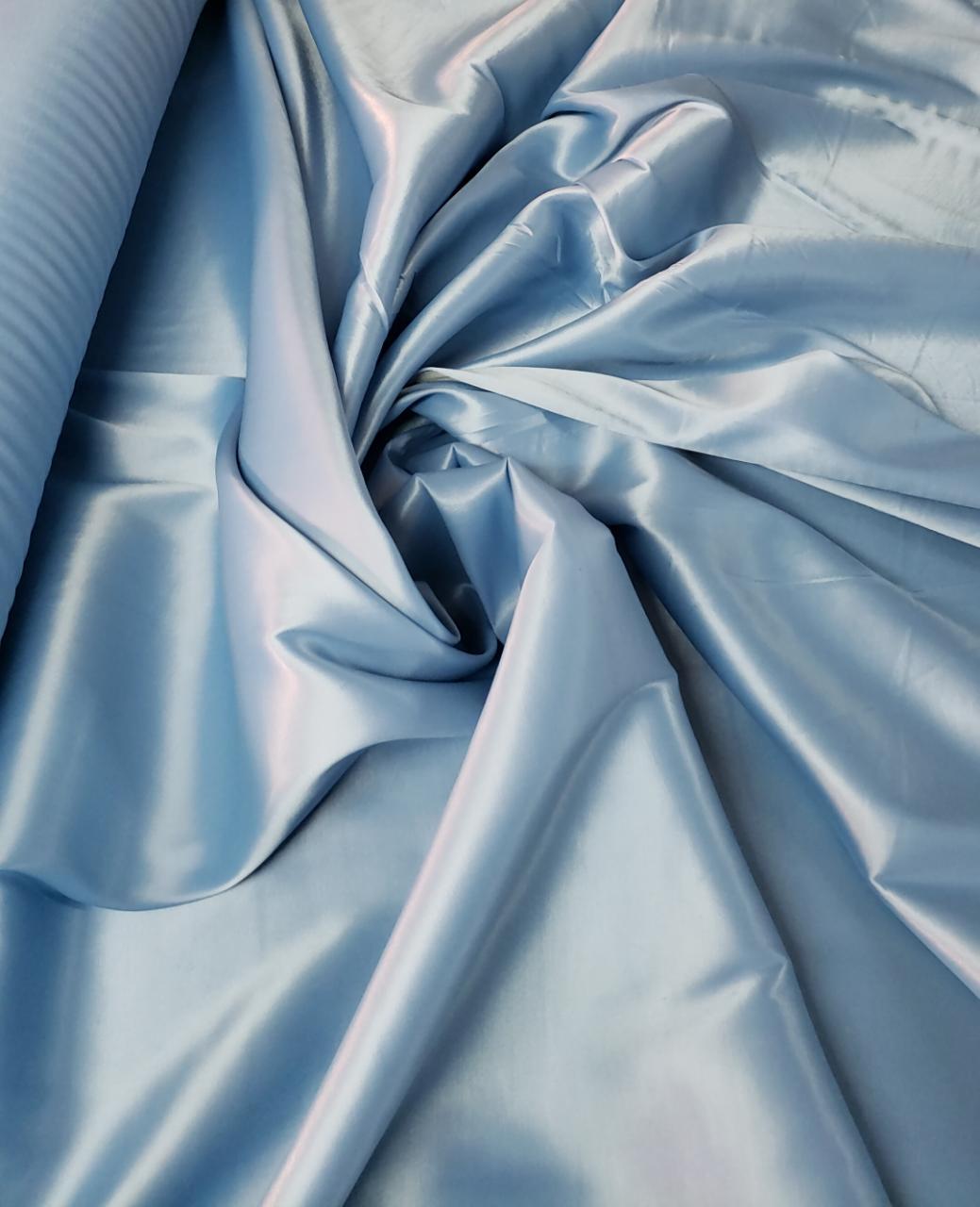 Cetim Bucol Liso com Elastano Azul Serenity