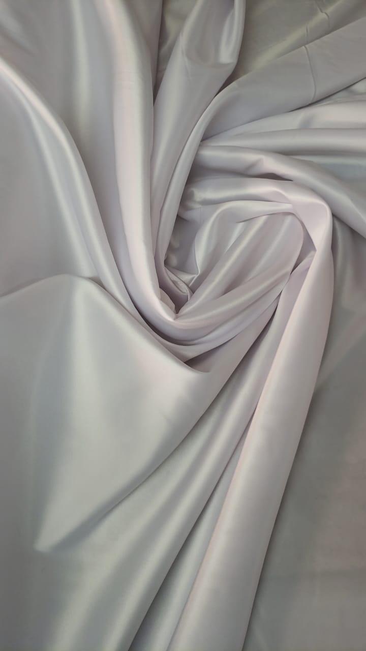 Cetim Bucol Liso com Elastano Branco
