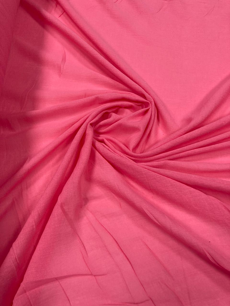Crepe Gauze Rosa Chiclete