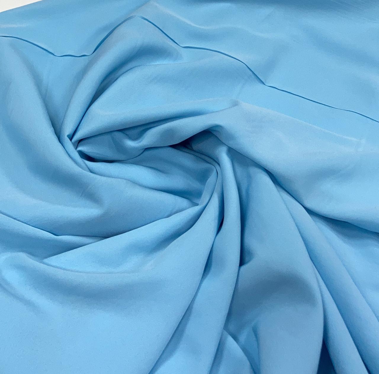 Crepe Haya Liso Azul bebê