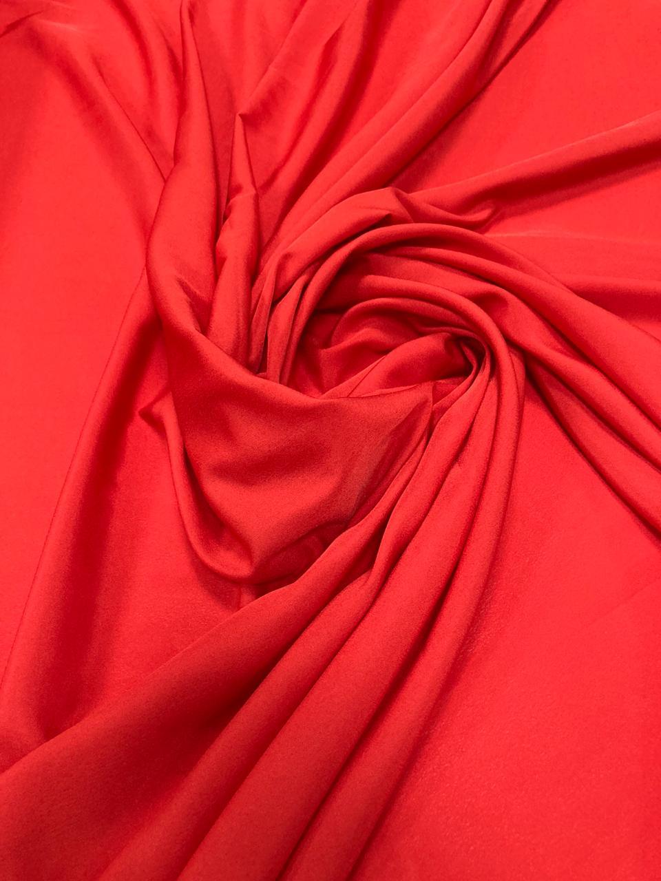 Crepe Haya Liso Vermelho
