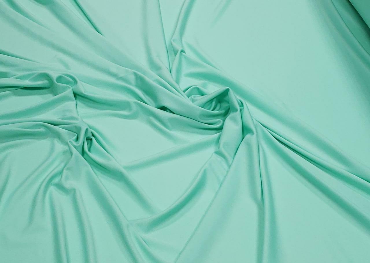 Malha Helanca Lisa Verde Tiffany