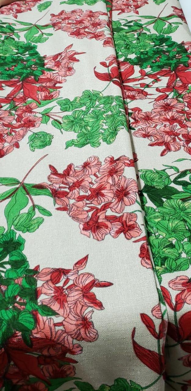 Linho Verano Estampado Flores