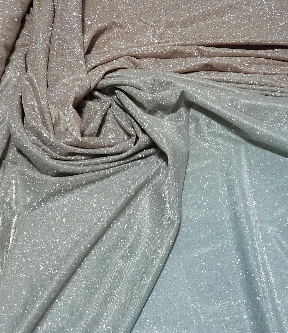 Lurex com Glitter Degradê Goiaba com Prata
