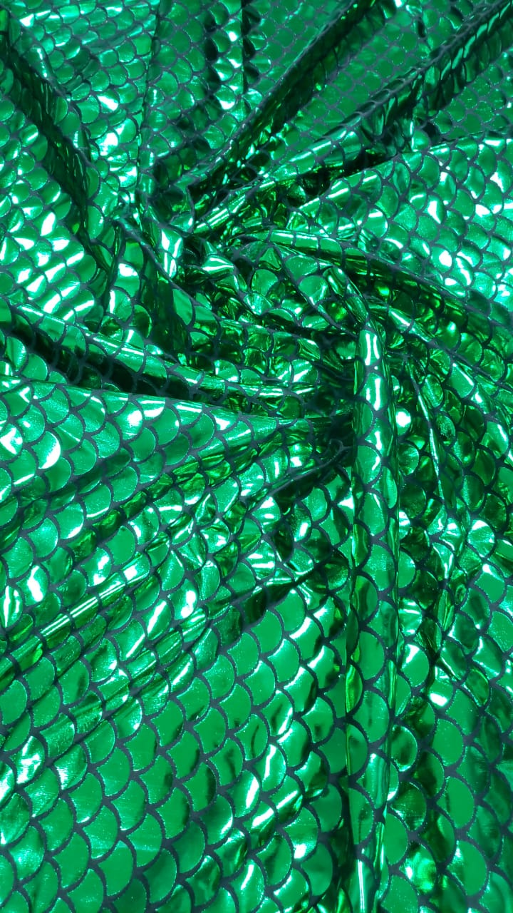 Malha Holográfica Sereia Verde