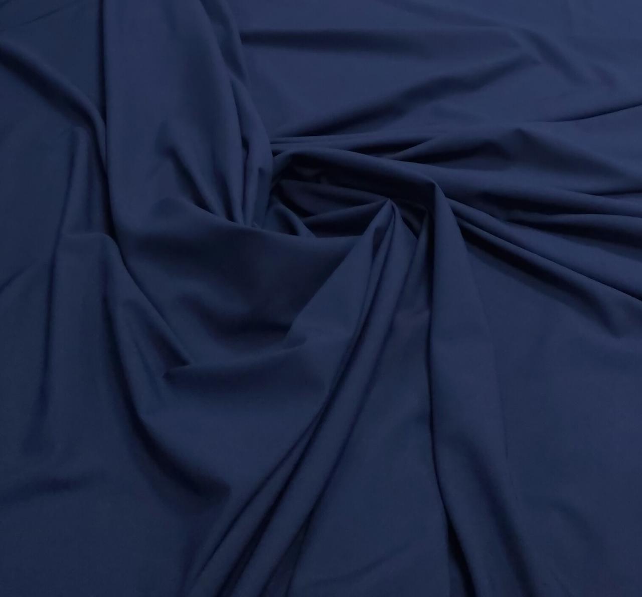 Microfibra Lisa Azul Marinho com Elastano