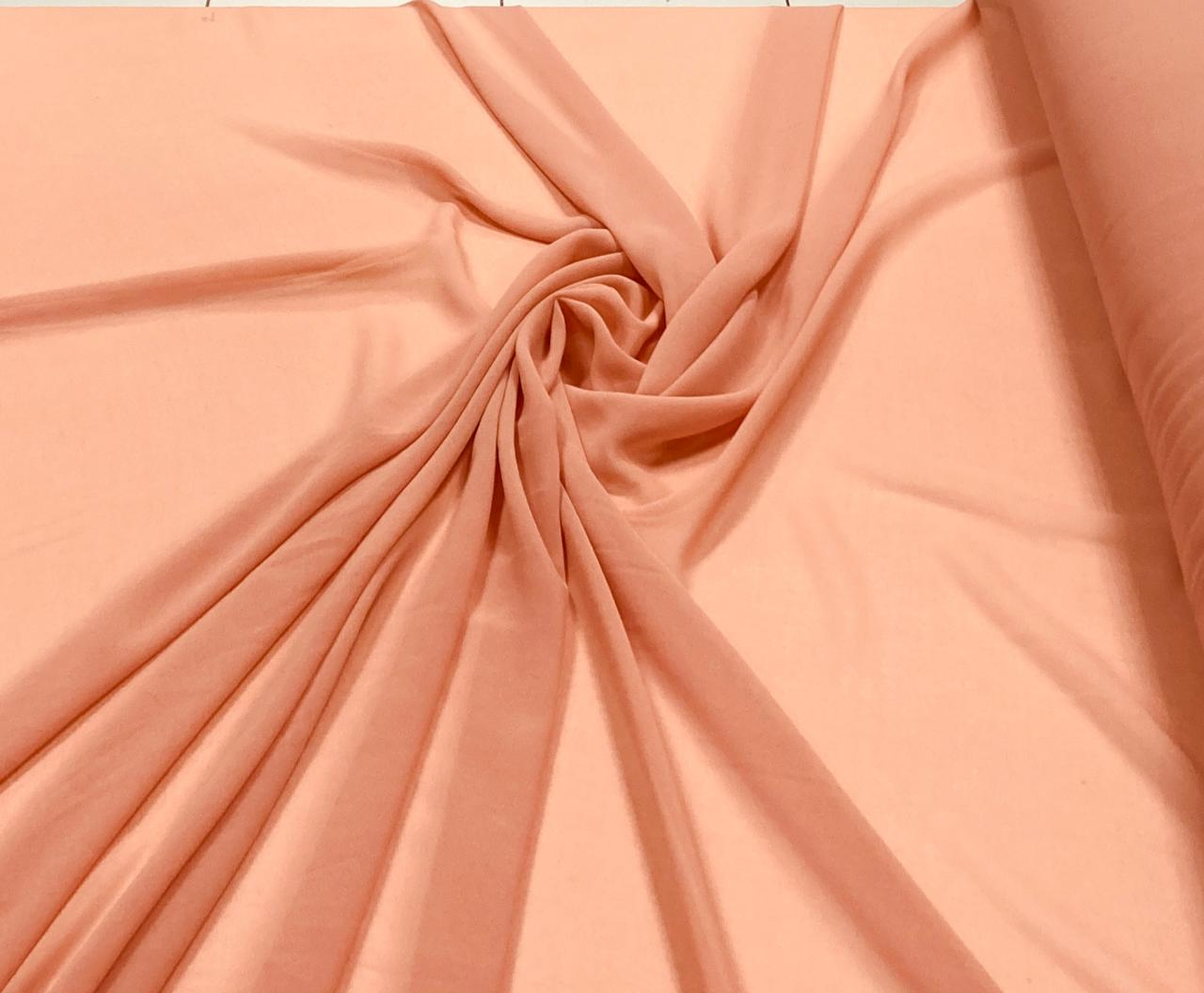 Mousseline Lisa Toque de Seda Nude Escuro