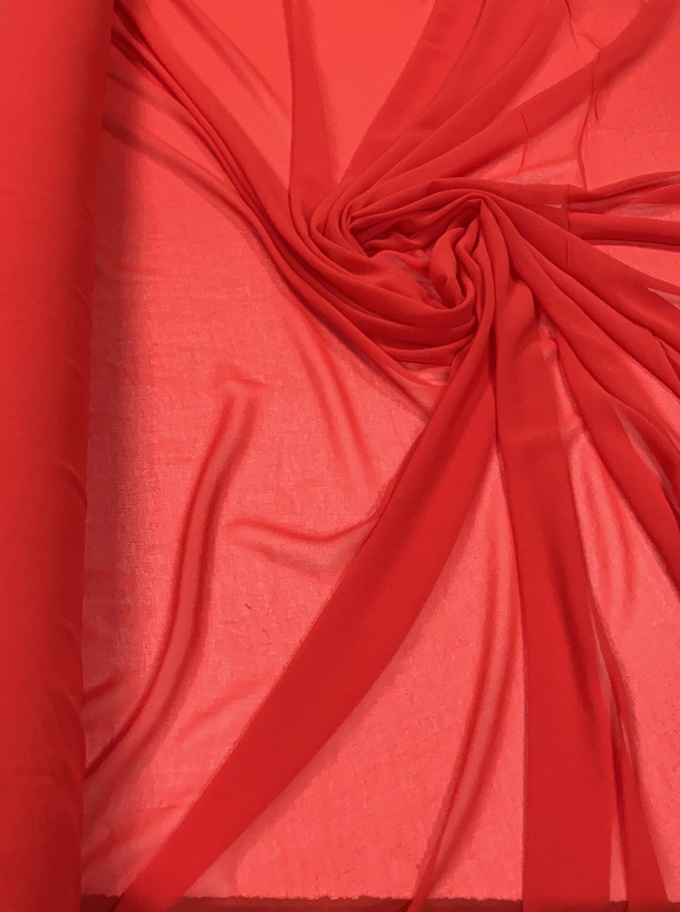 Mousseline Lisa Toque de Seda Vermelho Sangue