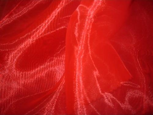 Organza Cristal Lisa Vermelho