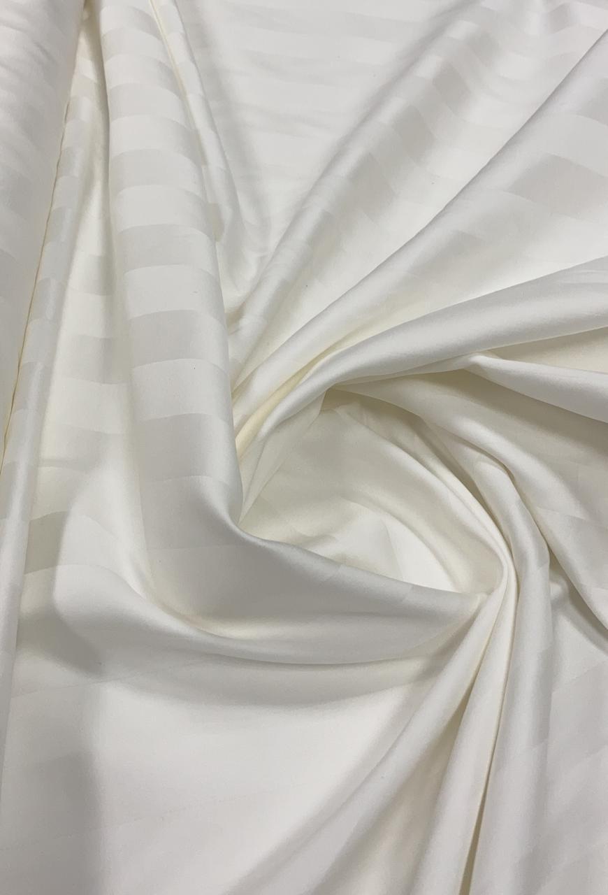 Percal Egípcio Maquinetado Branco - 400 Fios