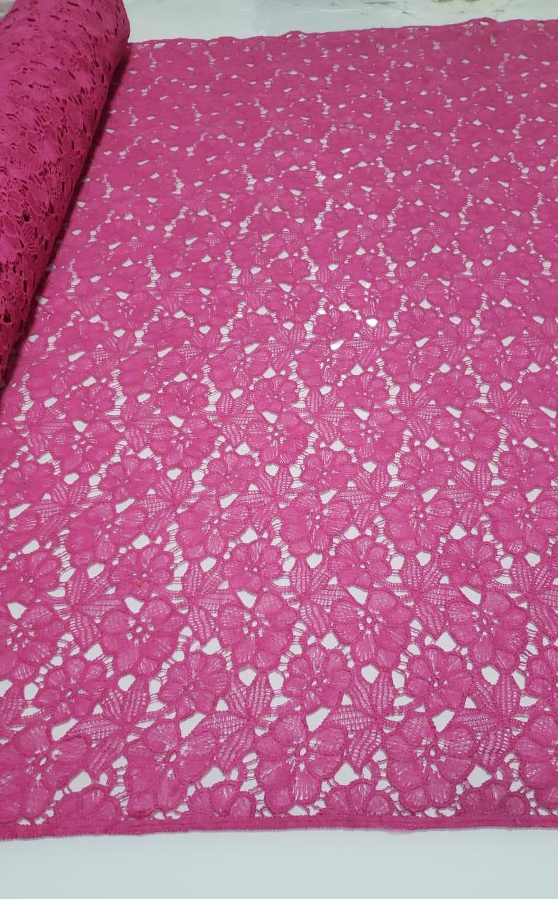 Renda Guipir Pesada Pink