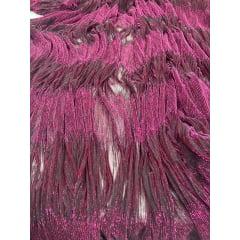 Lurex Plissê Pink com Preto LARGURA 1,50M X COMPRIMENTO 95CM
