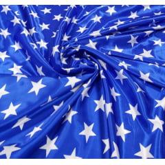 Cetim Azul Estrela Branca (M. Maravilha)