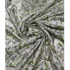 Cetim Estampado Dolar