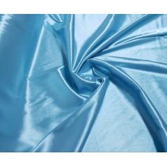 Cetim Charmeusse c/ Lycra Liso Azul Claro