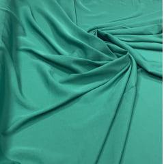 Crepe Haya Liso Verde Esmeralda