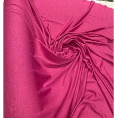 Malha Lurex Pink com Brilho Prata