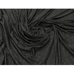 Malha Lurex Preto com Glitter Preto