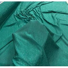 Malha Lurex Verde Jade com Brilho Prata