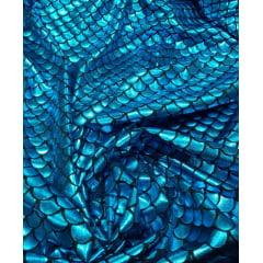 Malha Holográfica Sereia Azul