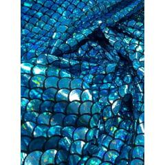 Malha Holográfica Sereia Azul Furtacor