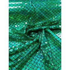 Malha Holográfica Sereia Verde Furtacor