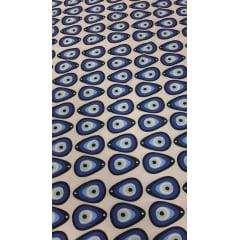 Microfibra Estampada Olho Grego