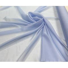 Mousseline Palha de Seda Azul Serenity