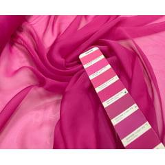 Mousseline Palha de Seda Pink