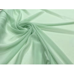 Mousseline Palha de Seda Verde Menta