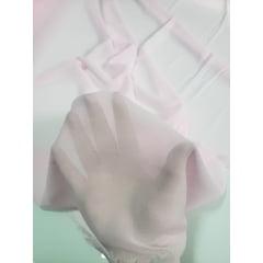 Mousseline Lisa Toque de Seda Rosa Bebê