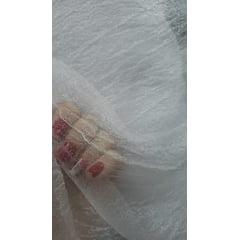 Organza Cristal Amassada Lisa Branco