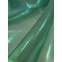 Organza Holográfica Verde