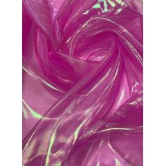 Organza Holográfica Pink