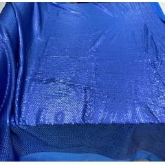 Paetê Bordado com Elastano Azul Celeste Escuro com Brilho Opaco