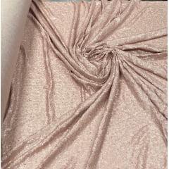 Paetê Bordado com Elastano Nude Fosco