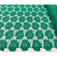 Renda Guipir Pesada Verde Bandeira Claro