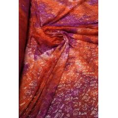 Renda Italiana Tie Dye Laranja com Pink