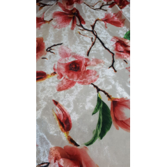 Veludo Spandex com Lycra Estampado Flores 10