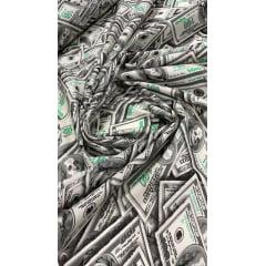 Tricoline Estampada Dólar 100% Algodão