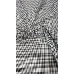 Tricoline Estampada Xadrez Menor Preto com Branco 100% Algodão