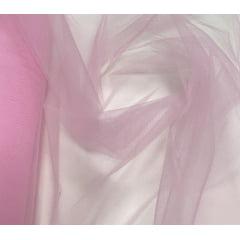 Tule Liso Decoração 1,20m Largura Rosa Claro