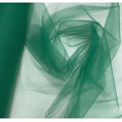 Tule Liso Decoração 1,20m Largura Verde Bandeira