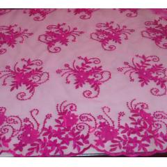 Tule Bordado 3D Pink