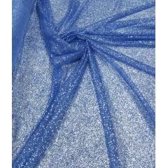 Tule com Glitter Azul Serenity Pesado