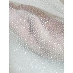Tule Noiva com Glitter Branco ( Leve )