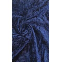 Veludo Molhado Com Lycra Azul Marinho
