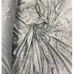 Veludo Molhado Com Lycra Prata