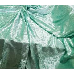 Veludo Molhado Com Lycra Verde Água