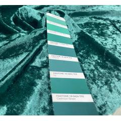Veludo Molhado Com Lycra Verde Esmeralda